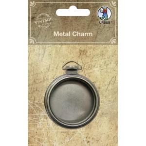"""Metallanhänger """"Vintage"""" Taschenuhr mit Glasdeckel"""