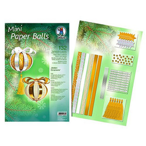 "Mini Paper Balls ""Golden Ornaments"""