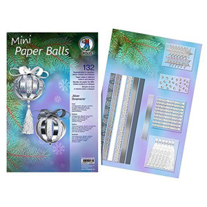 "Mini Paper Balls ""Silver Ornaments"""