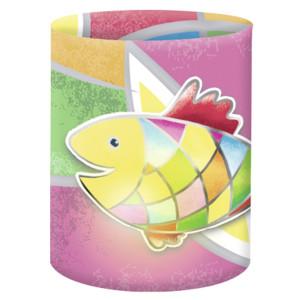 """Mini-Tischlichter """"Ambiente"""" Fisch bunt - Motiv 09"""