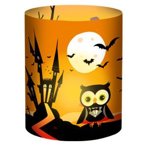"""Mini-Tischlichter """"Ambiente"""" Halloween hellgelb - Motiv 99"""