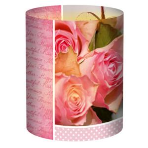 """Mini-Tischlichter """"Ambiente"""" Hochzeit Rose - Motiv 130"""