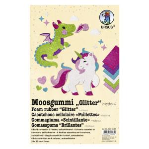 "Moosgummi 2 mm 20 x 30 cm ""Modern"" - 10 Blatt"