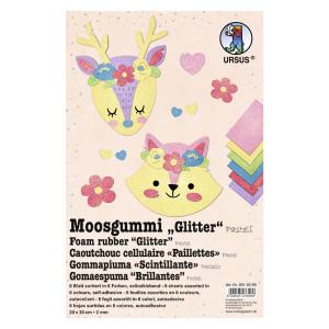 "Moosgummi 2 mm 20 x 30 cm ""Pastell"" - 10 Blatt"