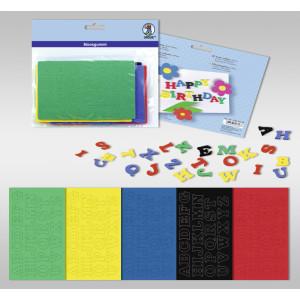 "Moosgummi 2 mm ""Buchstaben"" - 5 Farben"