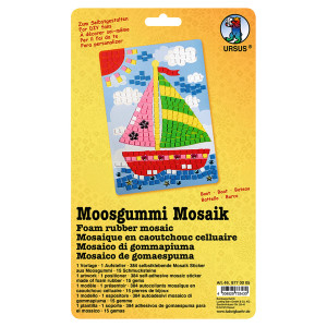 "Moosgummi Mosaik ""Boot"""