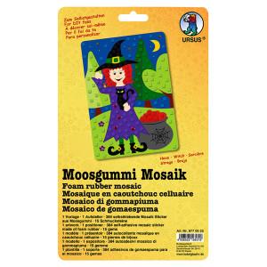 """Moosgummi Mosaik """"Hexe"""""""