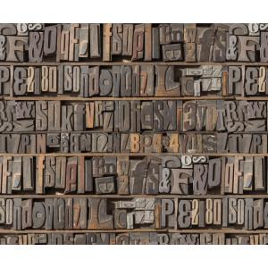 Motiv-Fotokarton 49,5 x 68 cm Buchstaben