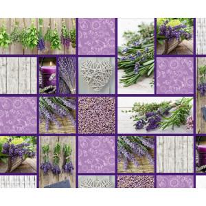 "Motiv-Fotokarton 49,5 x 68 cm ""Landhaus"" Lavendel"