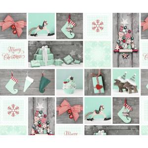 """Motiv-Fotokarton 49,5 x 68 cm """"Weihnachten"""" mint/rot"""