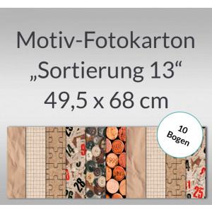 "Motiv-Fotokarton ""Sortierung 13"" 49,5 x 68 cm - 10 Bogen"