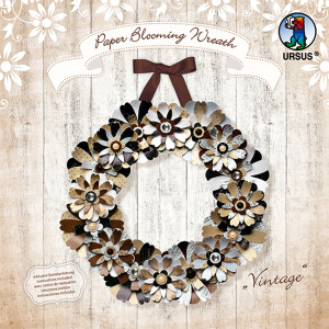 "Paper Blooming Wreath ""Vintage"""