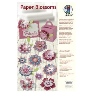 """Paper Blossoms """"Crazy Hearts"""""""