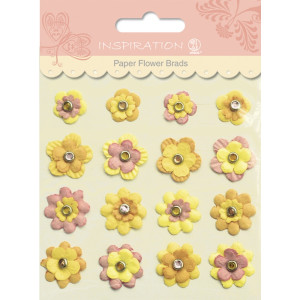 Paper Flower Brads Motiv 01