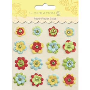 Paper Flower Brads Motiv 02
