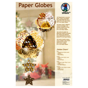 "Paper Globes ""Golden Charm"""