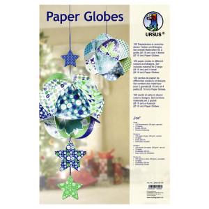 "Paper Globes ""Ice"" Design"