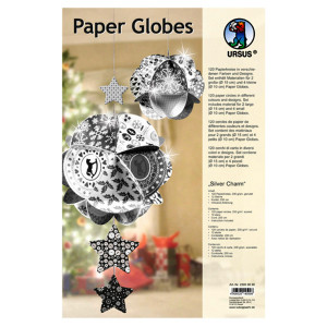 "Paper Globes ""Silver Charm"""
