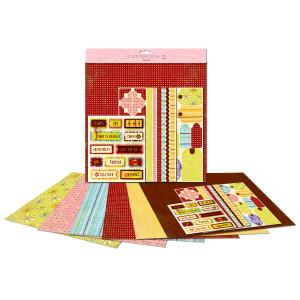"""Paper Kit """"Mustermix"""" 30,5 x 30,5 cm"""
