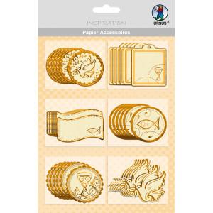 """Papier Accessoires """"Charity"""" gold - Motiv 55"""