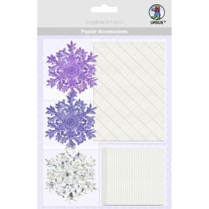 """Papier Accessoires """"Eiskristalle"""" lila"""