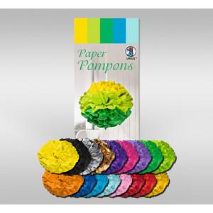 Papier Pompons aus Seidenpapier