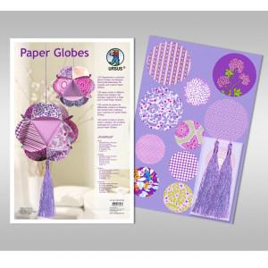 "Papierkreise / Paper Globes ""Amethyst"""