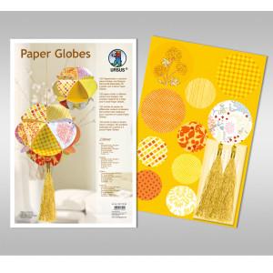 """Papierkreise / Paper Globes """"Citrine"""""""