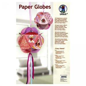 "Papierkreise / Paper Globes ""Crazy Hearts"""