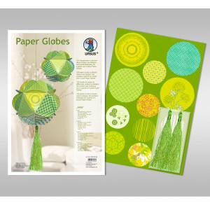 "Papierkreise / Paper Globes ""Jade"""