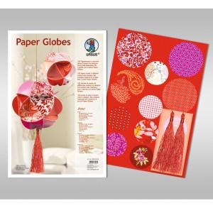 "Papierkreise / Paper Globes ""Ruby"""