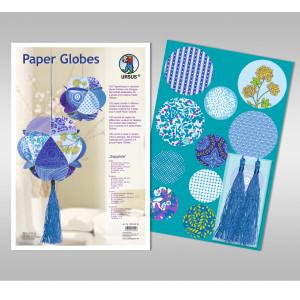 "Papierkreise / Paper Globes ""Sapphire"""
