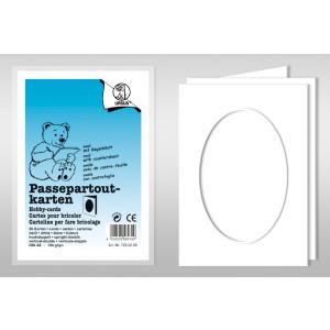 "Passepartoutkarte ""Dreams of paper"" oval für DIN B6 - 25 Stück"