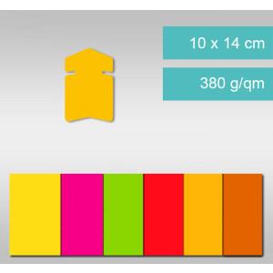 Pfeile aus Leuchtfarbenkarton 10 x 14 cm - 25 Stück