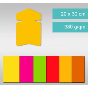 Pfeile aus Leuchtfarbenkarton 20 x 30 cm - 25 Stück