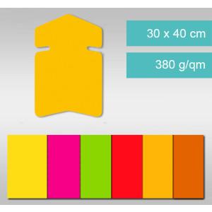 Pfeile aus Leuchtfarbenkarton 30 x 40 cm - 25 Stück