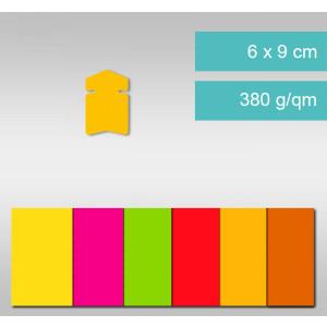 Pfeile aus Leuchtfarbenkarton 6 x 9 cm - 25 Stück