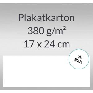 Plakatkarton 380 g/qm 17 x 24 cm weiß - 50 Blatt