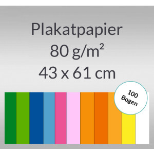 Plakatpapier 80 g/qm 43 x 61 cm - 100 Blatt