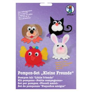 """Pompon-Set """"Kleine Freunde"""" Haustiere"""