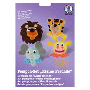 """Pompon-Set """"Kleine Freunde"""" Wildtiere"""