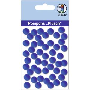 "Pompons ""Plüsch"" 10 mm dunkelblau"