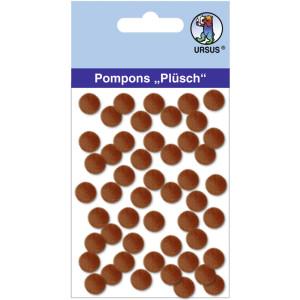 "Pompons ""Plüsch"" 10 mm dunkelbraun"