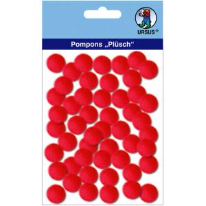 "Pompons ""Plüsch"" 15 mm rubinrot"