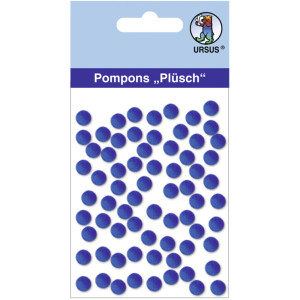 "Pompons ""Plüsch"" 7 mm dunkelblau"