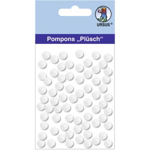 """Pompons """"Plüsch"""" 7 mm weiß"""