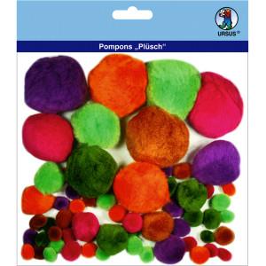 """Pompons """"Plüsch"""" Mix 5"""