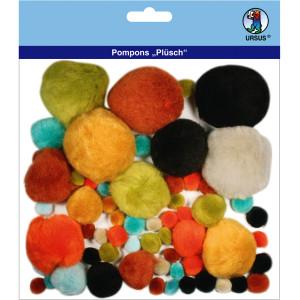 """Pompons """"Plüsch"""" Mix 6"""
