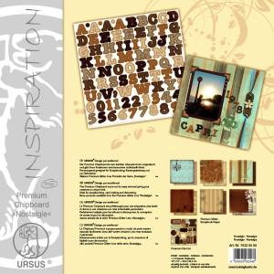 """Premium Chipboard """"Nostalgie"""" 30,5 x 30,5 cm - 5 Blatt"""