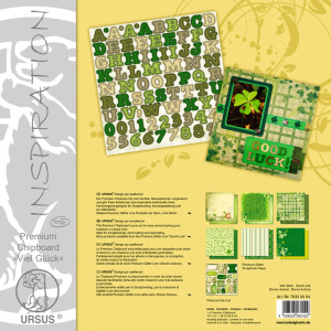 "Premium Chipboard ""Viel Glück"" 30,5 x 30,5 cm - 5 Blatt"